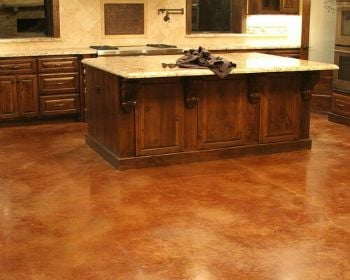 Concrete flooring in baltimore county rental property