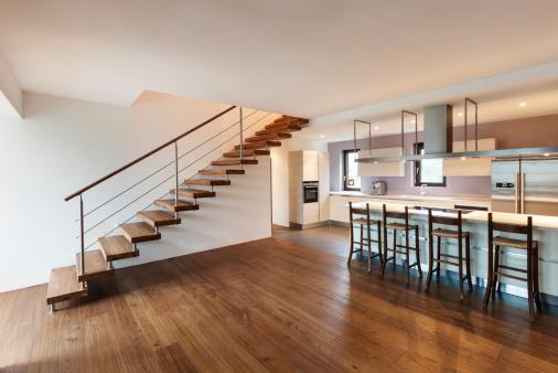 modern Baltimore County rental property with hardwood floors