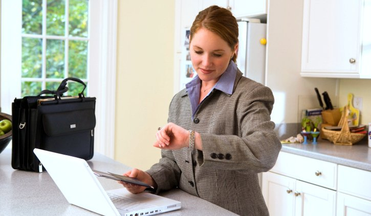 Property Manager Looking at Watch Waiting for Tenants to Show