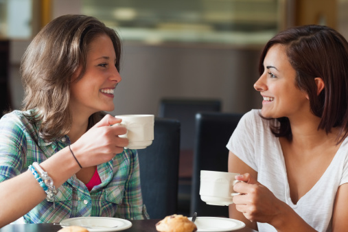Two College Students Having Coffee in Prince George's County MD