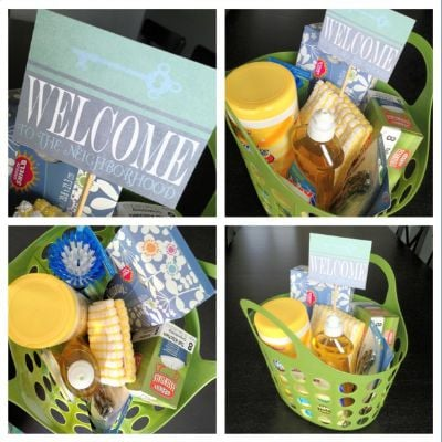 Welcome Gift Basket for Moving in to New Rental Home in Baltimore County