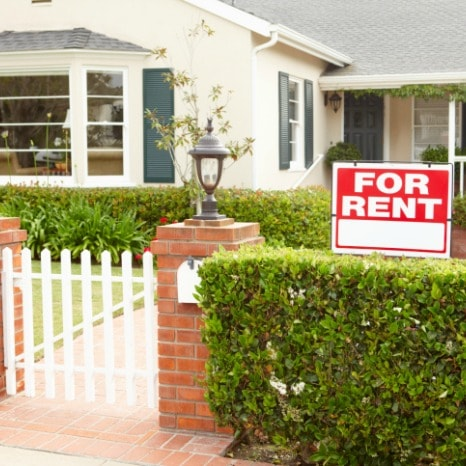 Baltimore County Income Property with For Rent Sign in Yard