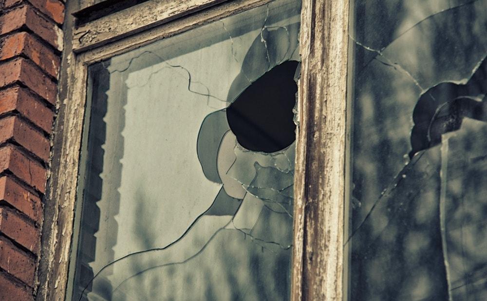 Howard County Rental Property with Broken Window