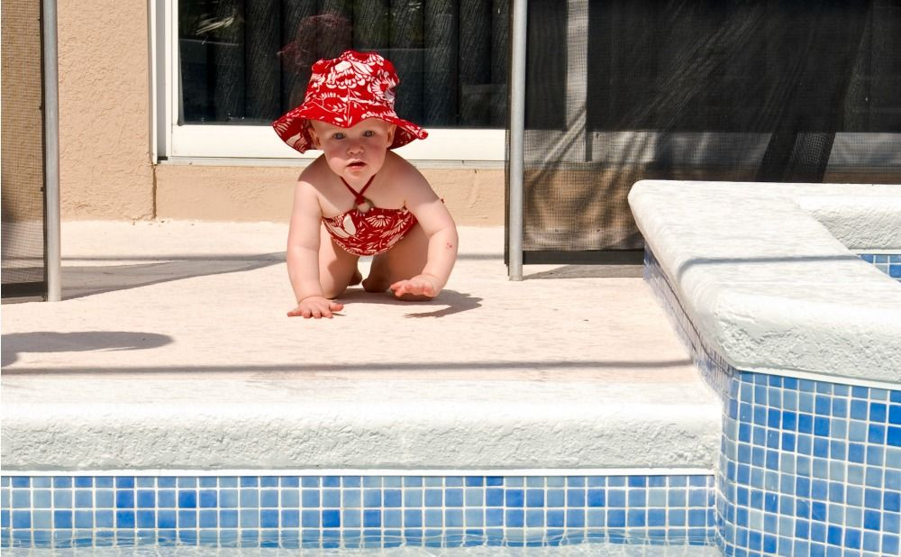 Install a Fence Around the Pool to Childproof Your Maryland Rental