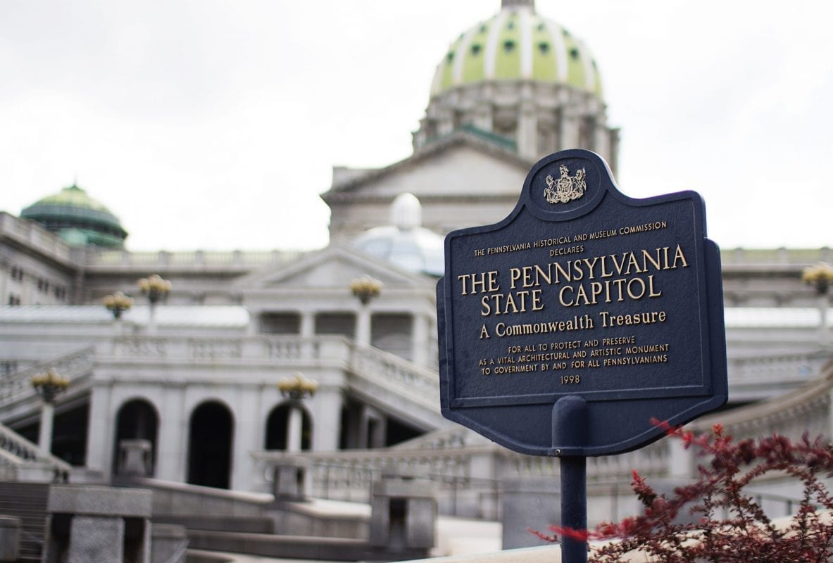 The Pennsylvania State Capitol in Harrisburg, PA