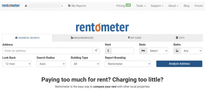 Rentometer - Free Trial and Paid Premium Service