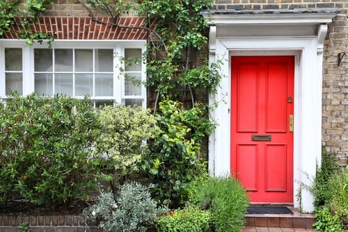 Red Door sign of mortgage payoff
