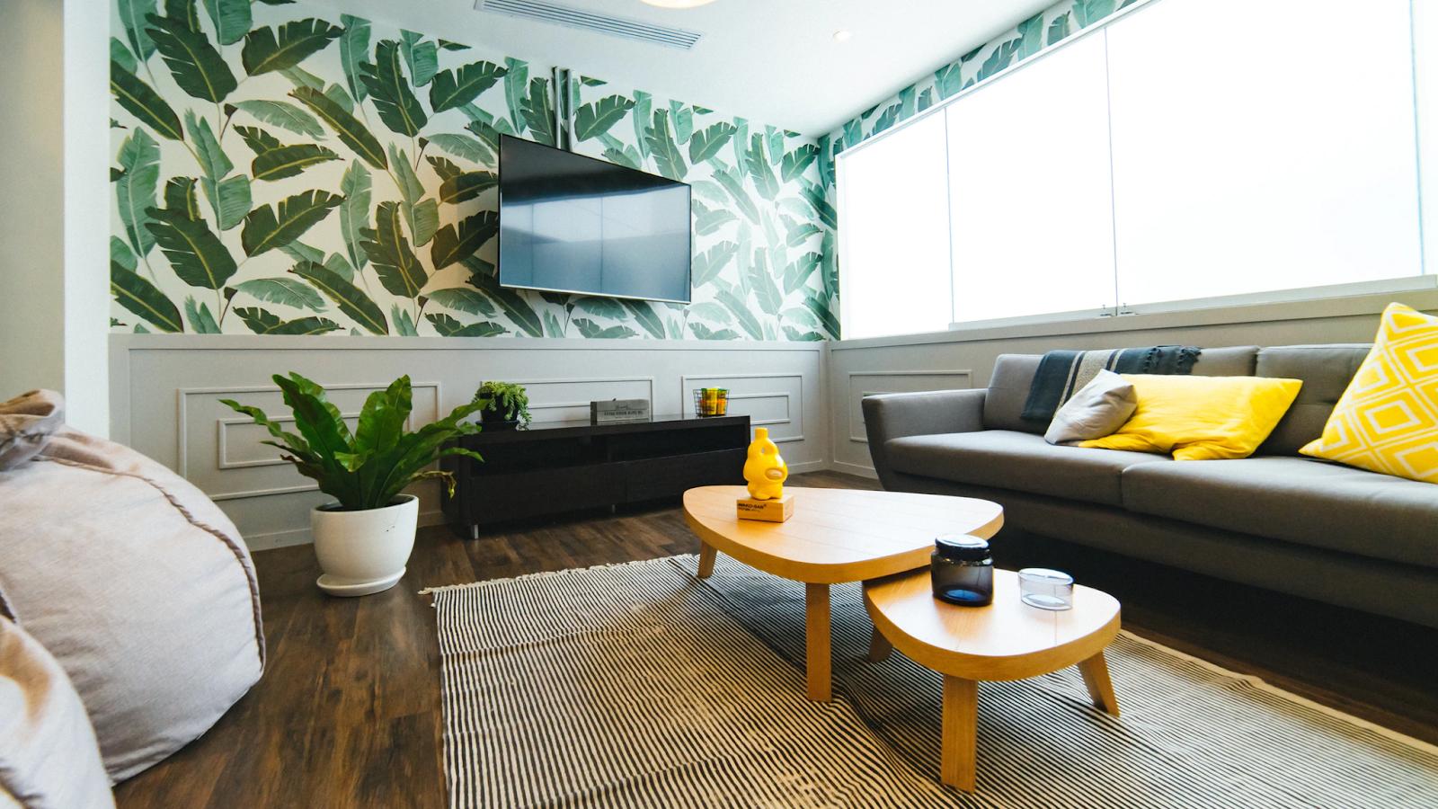 wallpaper to modernize decor